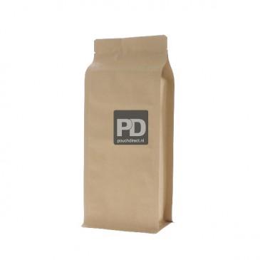 Flat bottom stazak bruin kraftpapier (geen ventiel, geen zipper) 110x280+{40+40} mm