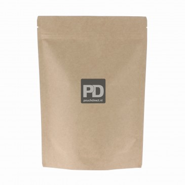 Stand Up Pouch bruin kraftpapier-95x150+{30+30} mm