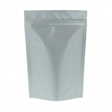 Stand Up Pouch mat zilver-160x230+{45+45} mm (matBopp)