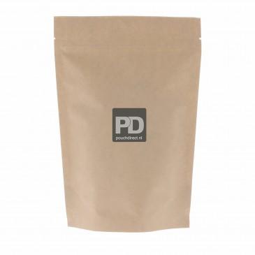 Stazak kraftpapier 2-laags 160x230+{45+45}mm Aluminiumvrij