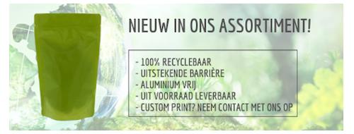 100% recyclebare zakken - aluminiumvrij
